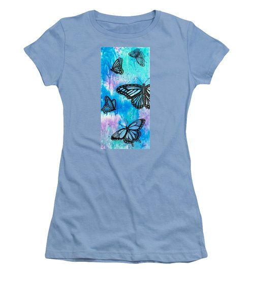 Women's T-Shirt (Junior Cut) featuring the painting Feeling Free by Susan DeLain