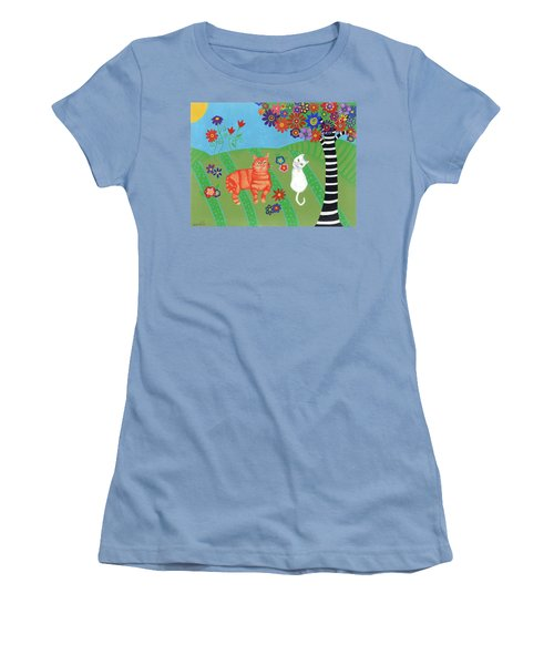 Kitty Cat Meadows Women's T-Shirt (Athletic Fit)