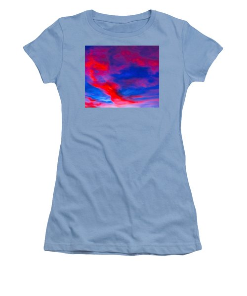 Fiery Dragon Floating Women's T-Shirt (Athletic Fit)