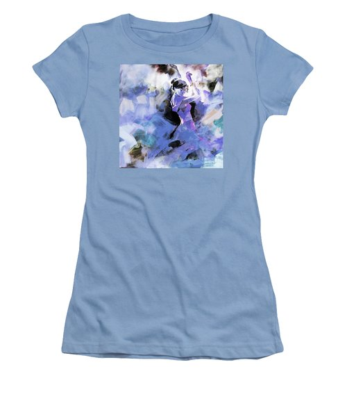 Women's T-Shirt (Junior Cut) featuring the painting Figurative Dance Art 509w by Gull G