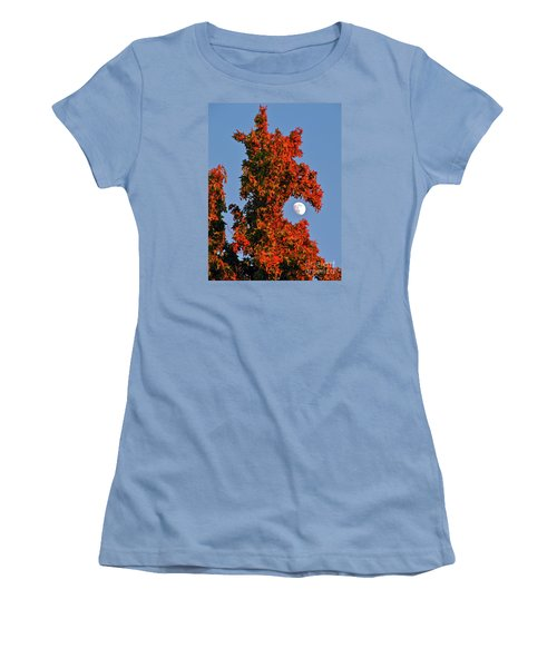 Fire Dragon Tree Eats Moon Women's T-Shirt (Junior Cut) by CML Brown