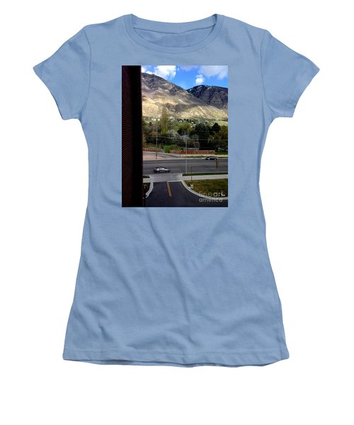 Fire Hydrant Guarding The Byu Y Women's T-Shirt (Junior Cut) by Richard W Linford