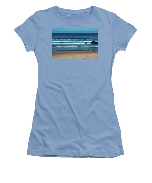 First Steps On The Sand Women's T-Shirt (Athletic Fit)