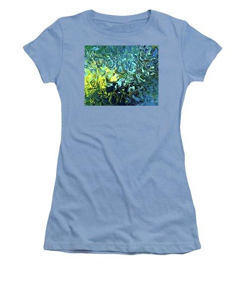 Fish Abstract Art Women's T-Shirt (Junior Cut) by Annie Zeno