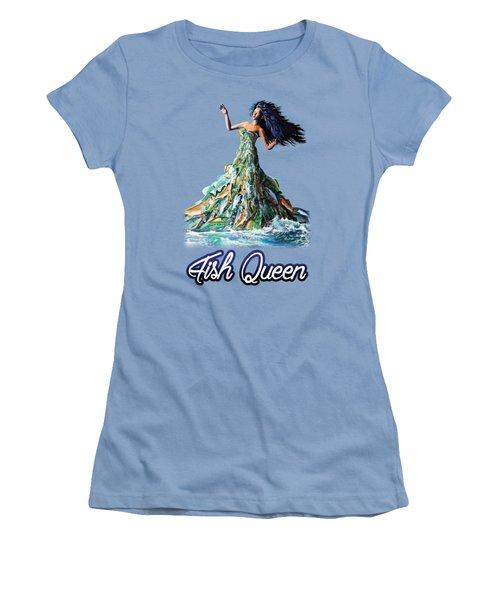 Fish Queen Women's T-Shirt (Junior Cut) by Anthony Mwangi