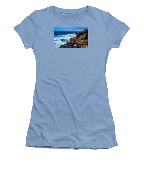 Women's T-Shirt (Junior Cut) featuring the photograph Fisherman And The Sea by Marion McCristall