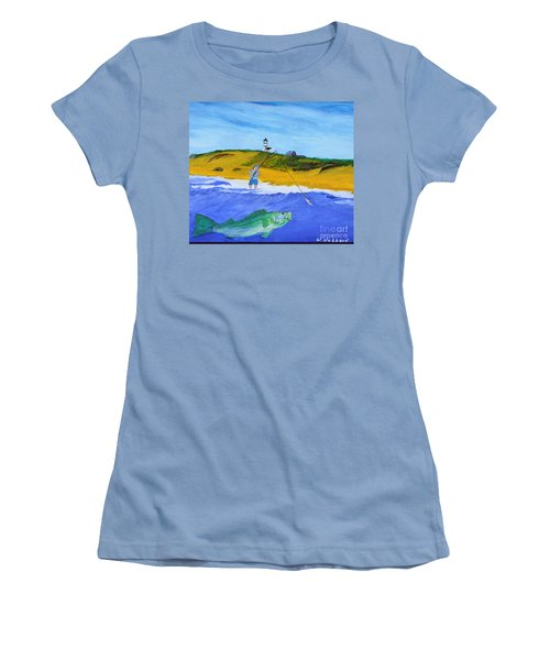 Fishing Under Highland Light Women's T-Shirt (Athletic Fit)