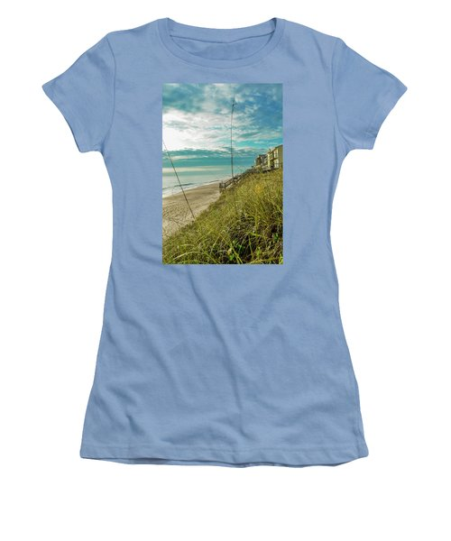 St Aug Beach Women's T-Shirt (Athletic Fit)