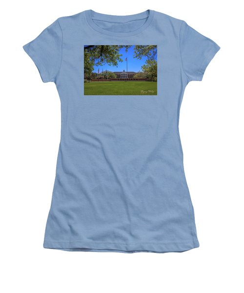 Women's T-Shirt (Junior Cut) featuring the photograph Flag At Entrance by Gregory Daley  PPSA