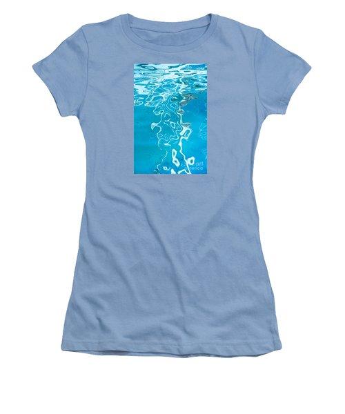 Floating On Blue 38 Women's T-Shirt (Junior Cut) by Wendy Wilton