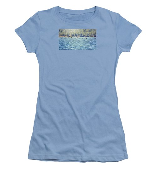 Flock Of Geese Women's T-Shirt (Athletic Fit)