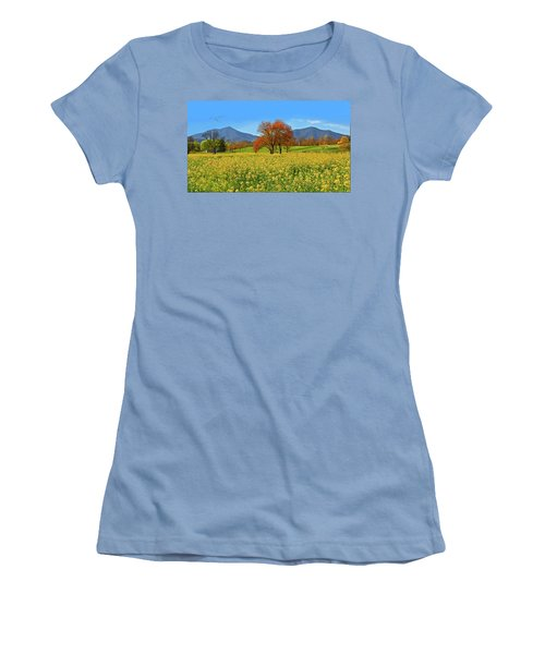 Flowering Meadow, Peaks Of Otter,  Virginia. Women's T-Shirt (Athletic Fit)