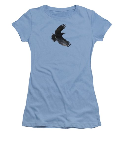 Women's T-Shirt (Junior Cut) featuring the photograph Flying Crow by Bradford Martin