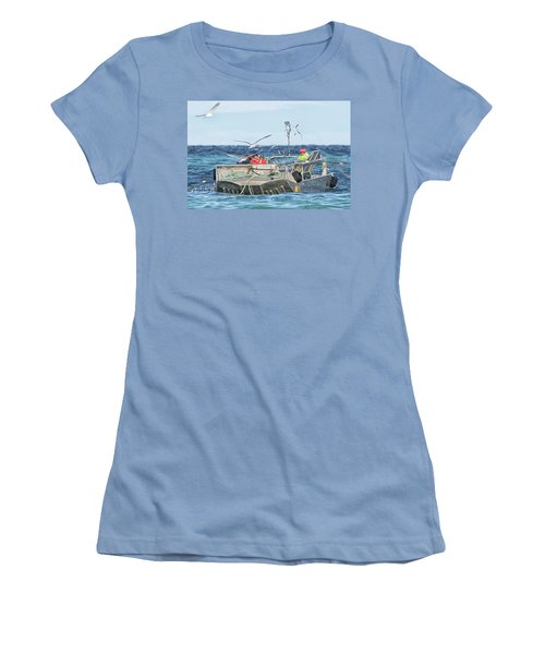 Women's T-Shirt (Junior Cut) featuring the photograph Flying Fish by Randy Hall