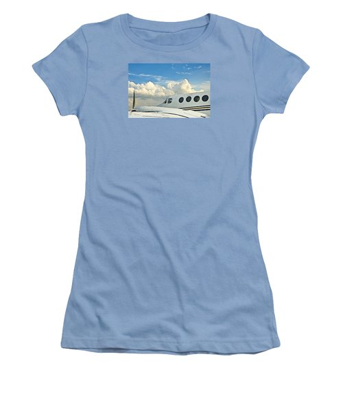 Women's T-Shirt (Junior Cut) featuring the photograph Flying Time by Carolyn Marshall