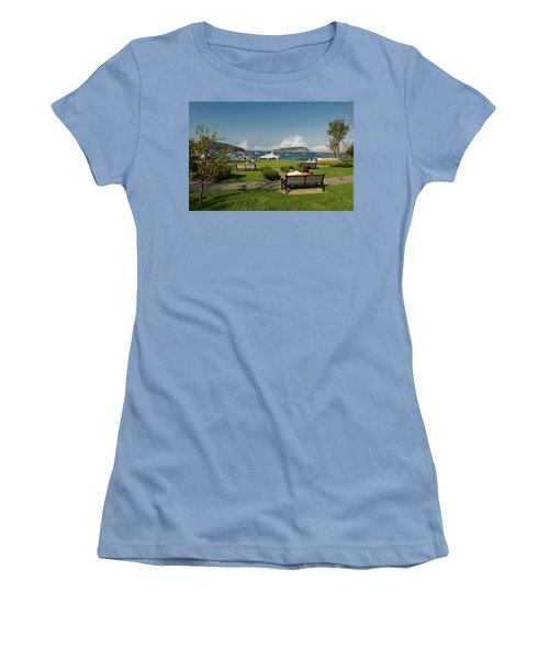 Fog Show Over The Porcupine Islands Women's T-Shirt (Athletic Fit)