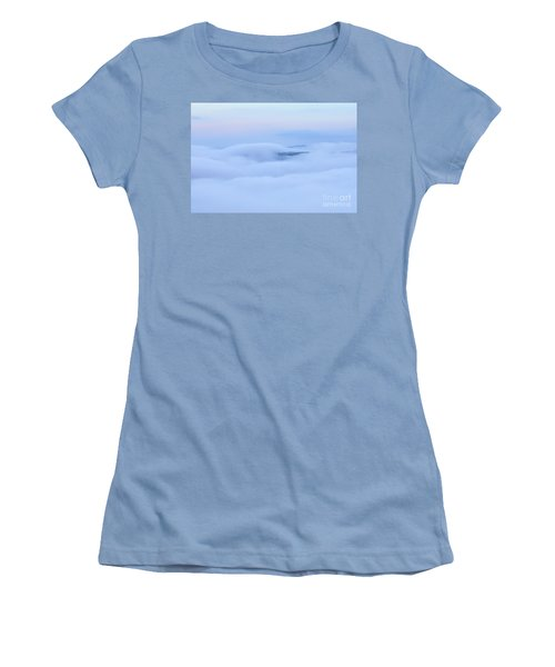 Women's T-Shirt (Athletic Fit) featuring the photograph Foggy Layers by Kerri Farley
