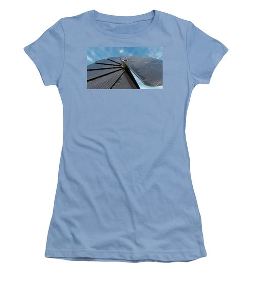 Foldable Solar Collector Women's T-Shirt (Junior Cut) by Hans Engbers