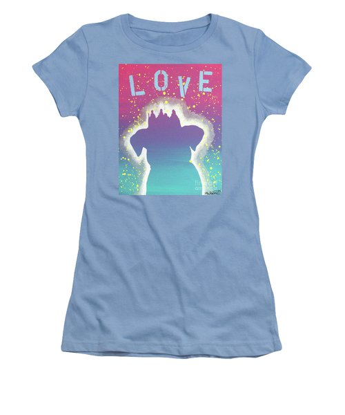 For The Love Of Pups Women's T-Shirt (Junior Cut) by Melissa Goodrich