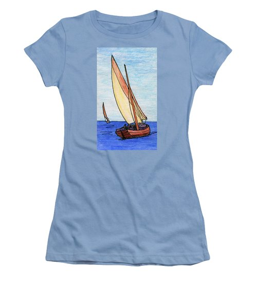 Force Of The Wind On The Sails Women's T-Shirt (Junior Cut) by R Kyllo