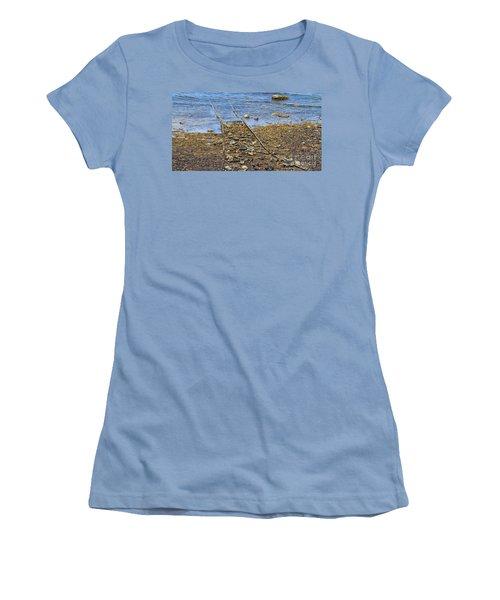 Women's T-Shirt (Junior Cut) featuring the photograph Forgotten Line II by Stephen Mitchell