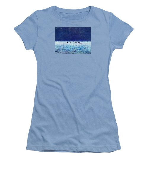 Four Loons On Parker Pond Women's T-Shirt (Athletic Fit)