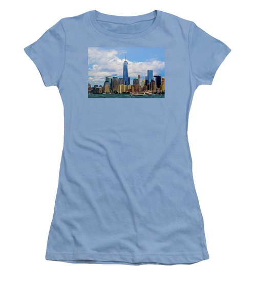 Freedom Tower Nyc Women's T-Shirt (Athletic Fit)