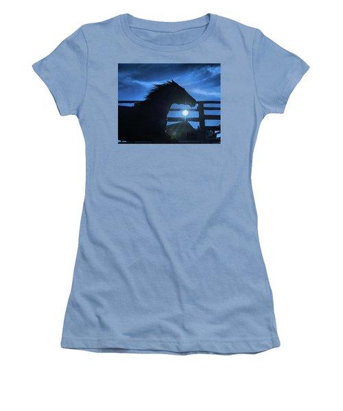 Free Spirit Horse Women's T-Shirt (Athletic Fit)