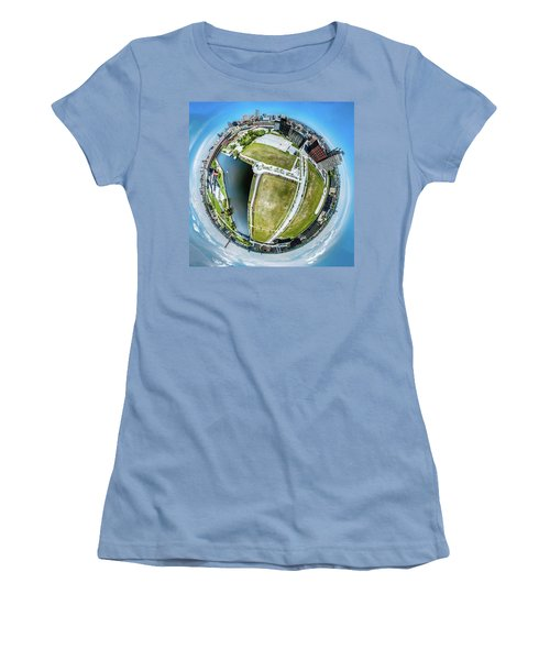 Women's T-Shirt (Athletic Fit) featuring the photograph Freshwater Way Little Planet by Randy Scherkenbach