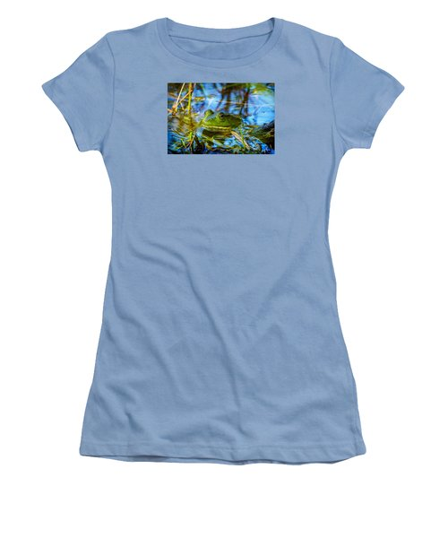 Frog In My Pond Women's T-Shirt (Athletic Fit)