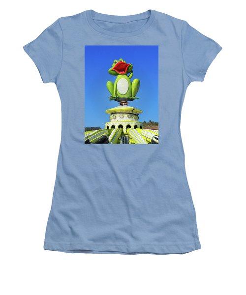 Froggy Women's T-Shirt (Junior Cut) by Don Pedro De Gracia