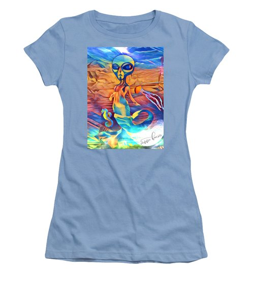 From A World Inside Of Another Women's T-Shirt (Athletic Fit)