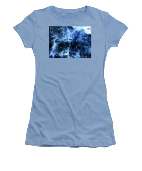 Women's T-Shirt (Athletic Fit) featuring the photograph  From Meteoroid To Meteor Into Meteorite  by Sheila Mcdonald