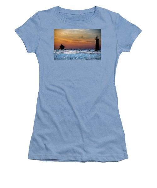 Frozen Lighthouse Women's T-Shirt (Athletic Fit)
