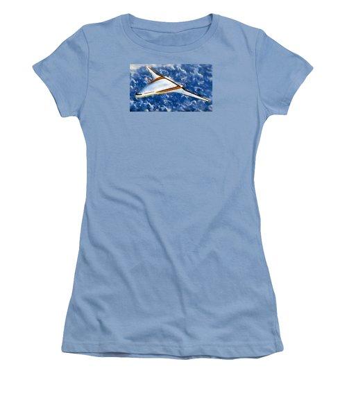 Women's T-Shirt (Junior Cut) featuring the painting Future Flight by Mario Carini