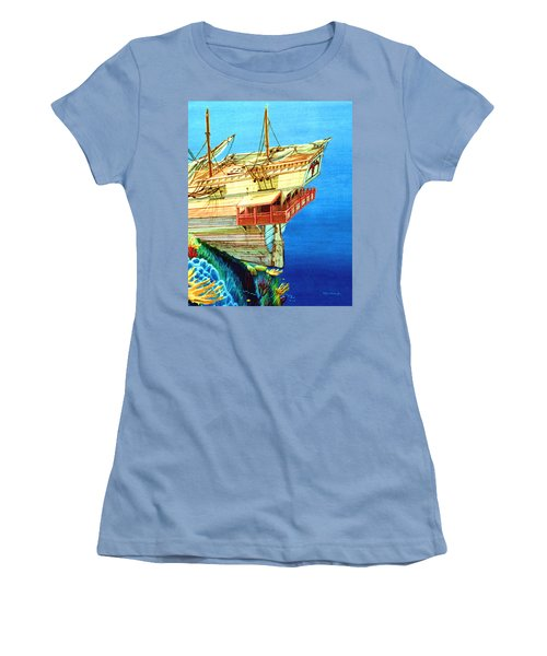Galleon On The Reef 2 Filtered Women's T-Shirt (Athletic Fit)