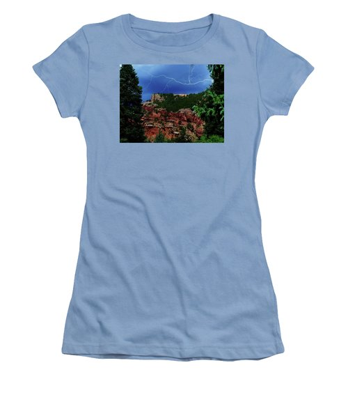 Women's T-Shirt (Junior Cut) featuring the digital art Garden Of The Gods by Chris Flees