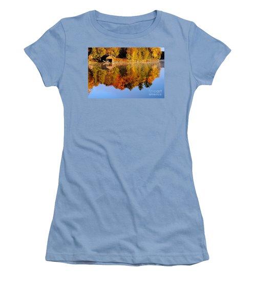 Gatineau Park Taylor Lake Women's T-Shirt (Junior Cut) by Rod Jellison