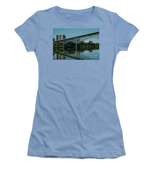 Women's T-Shirt (Athletic Fit) featuring the photograph Gay Street Bridge by Douglas Stucky