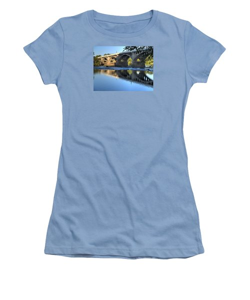 Gervais Street Bridge-1 Women's T-Shirt (Junior Cut) by Charles Hite