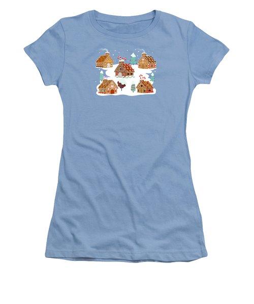 Gingerbread Village Women's T-Shirt (Athletic Fit)