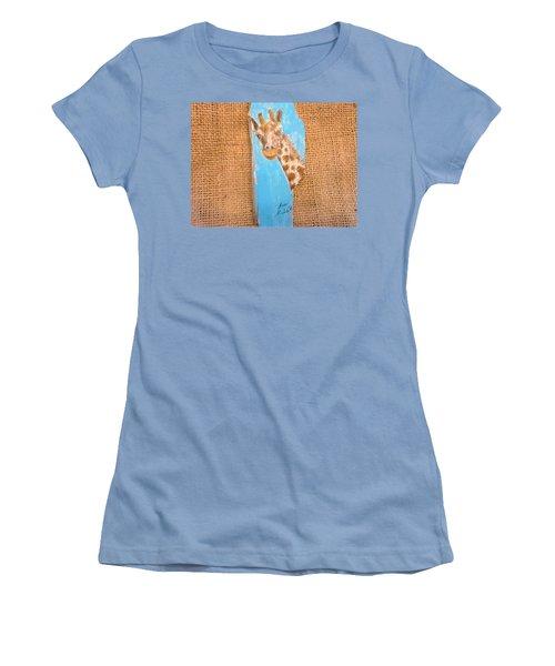 Giraffe  Women's T-Shirt (Junior Cut) by Ann Michelle Swadener