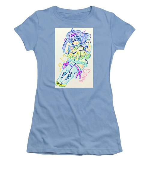 Girl04 Women's T-Shirt (Athletic Fit)