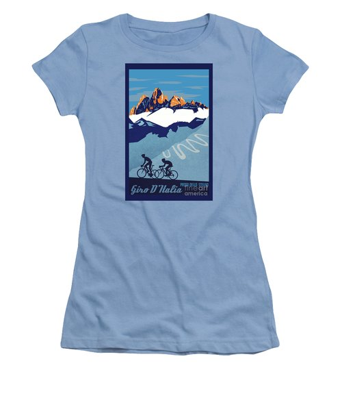 Giro D'italia Cycling Poster Women's T-Shirt (Athletic Fit)