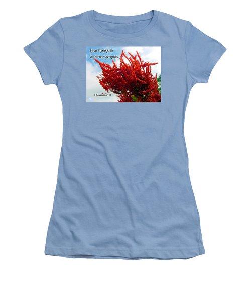 Give Thanks Women's T-Shirt (Junior Cut) by Judi Saunders
