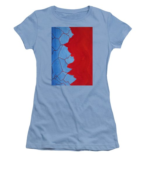 Glitch In The Matrix Original Painting Women's T-Shirt (Athletic Fit)