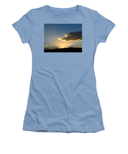 Women's T-Shirt (Athletic Fit) featuring the photograph Glorious Sunburst 1 by Will Borden