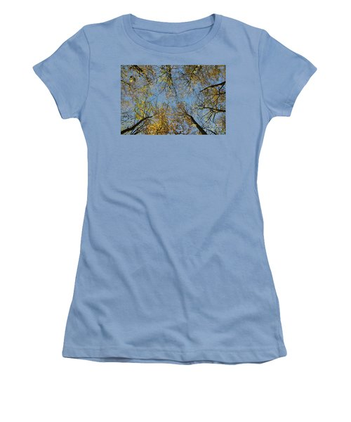 Women's T-Shirt (Athletic Fit) featuring the photograph Glorious Tree Tops by Kennerth and Birgitta Kullman