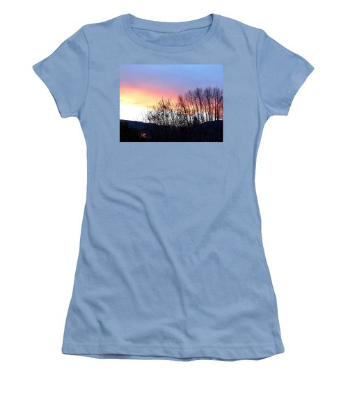 Women's T-Shirt (Junior Cut) featuring the photograph Glowing Kalamalka Lake by Will Borden