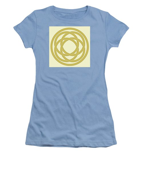 Women's T-Shirt (Junior Cut) featuring the photograph Gold Celtic Knot by Jane McIlroy